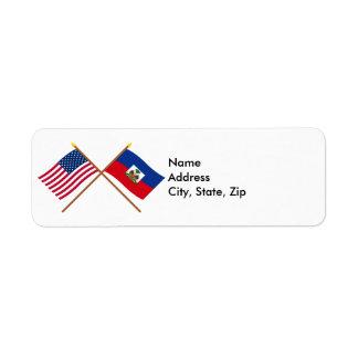 US and Haiti Crossed Flags