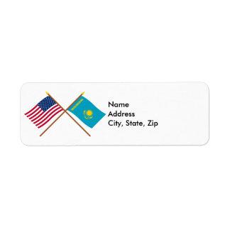 US and Kazakhstan Crossed Flags