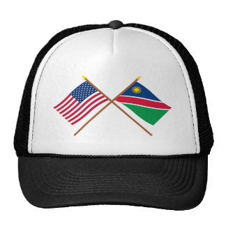 US and Namibia Crossed Flags Cap