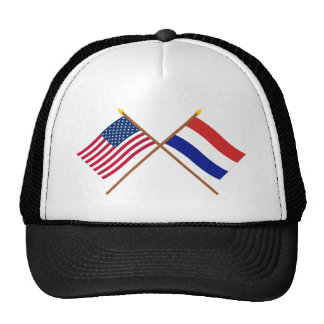 US and Netherlands Crossed Flags Cap