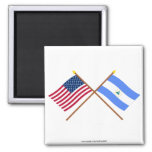 US and Nicaragua Crossed Flags