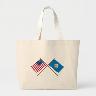 US and Northern Marianas Crossed Flags Bag