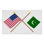 US and Pakistan Crossed Flags