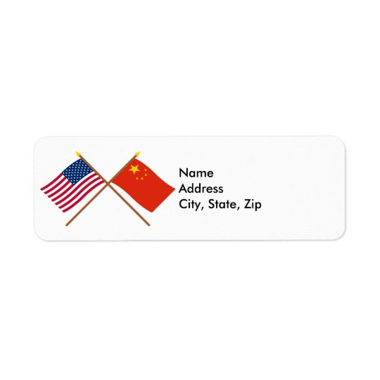 US and People's Republic of China Crossed Flags