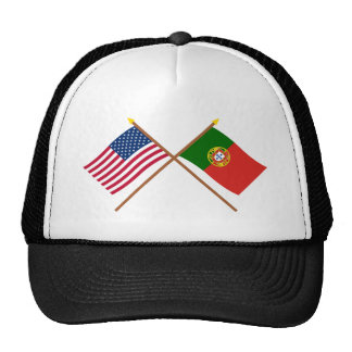 US and Portugal Crossed Flags Cap