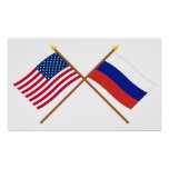 US and Russia Crossed Flags
