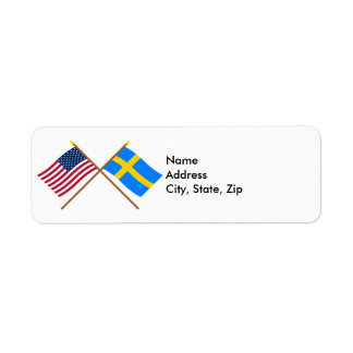 US and Sweden Crossed Flags