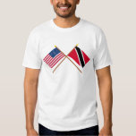 US and Trinidad & Tobago Crossed Flags Shirt