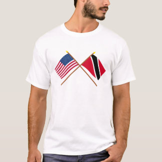 US and Trinidad & Tobago Crossed Flags T-Shirt