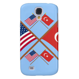 US and Turkey Crossed Flags Samsung Galaxy S4 Case