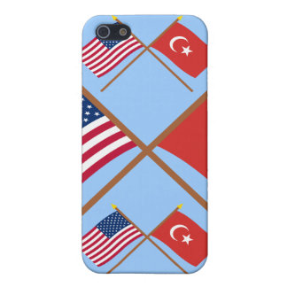 US and Turkey Crossed Flags iPhone 5 Case