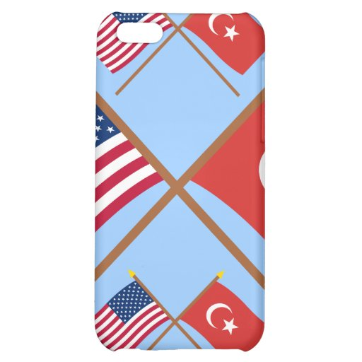 US and Turkey Crossed Flags iPhone 5C Cover