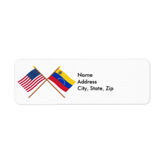 US and Venezuela Crossed Flags