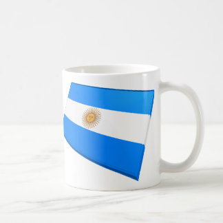 US & Argentina Flags Coffee Mug