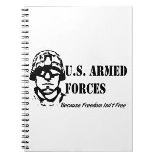 US Armed Forces (Black) Spiral Note Book