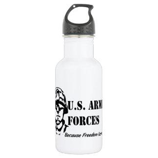 US Armed Forces (Black) 532 Ml Water Bottle