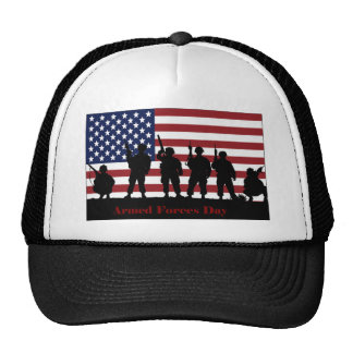 US Armed Forces Day American Flag with Soldiers Cap