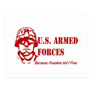US Armed Forces (Red) Postcard