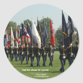 US Army 3d Infantry Regiment - The Old Guard Classic Round Sticker