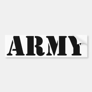 US Army - Black Text Bumper Stickers