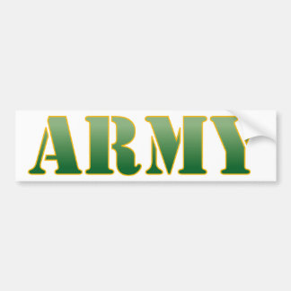 US Army - Green Text Bumper Sticker