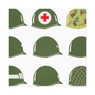 US Army Helmets M1 Canvas Print