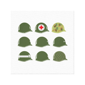 US Army M1 Helmet Design Canvas Print