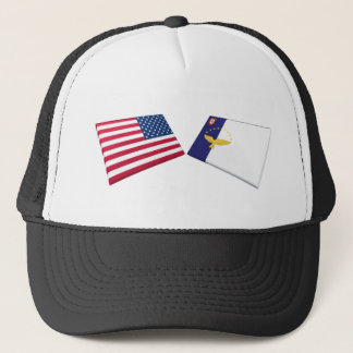 US & Azores Flags Trucker Hat