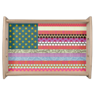 US Beauty flag Serving Tray