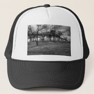 US, Bridge  on Port Arthur, TX. Black and White. Trucker Hat