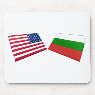 US & Bulgaria Flags Mouse Mats