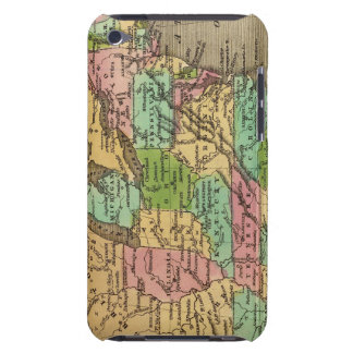 US, Canada Hand Colored Atlas Map Case-Mate iPod Touch Case
