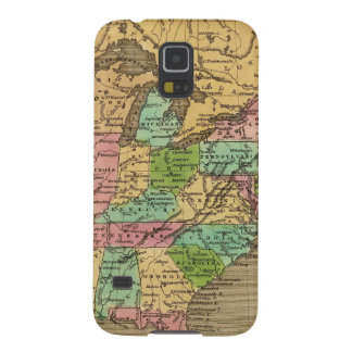 US, Canada Hand Colored Atlas Map Cases For Galaxy S5