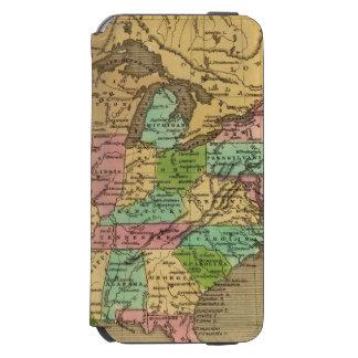 US, Canada Hand Colored Atlas Map Incipio Watson™ iPhone 6 Wallet Case