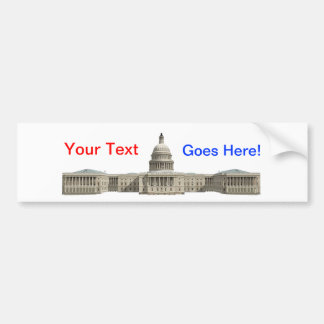 US Capital Building: Washington DC Bumper Sticker