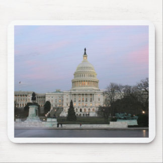 US Capitol at winter dusk Mouse Pad