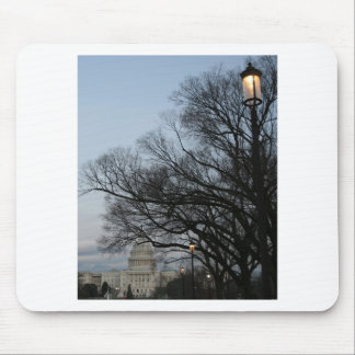 US Capitol at winter dusk photo Mouse Pad