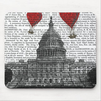 US Capitol Building and Red Hot Air Balloons Mouse Pad