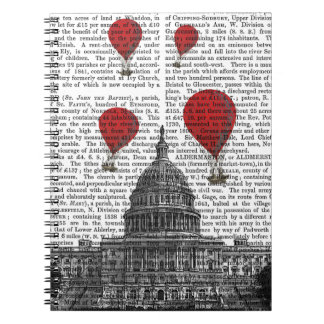 US Capitol Building and Red Hot Air Balloons Note Book