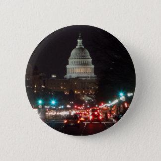 US Capitol Building at night 6 Cm Round Badge