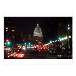 US Capitol Building at night Postcard