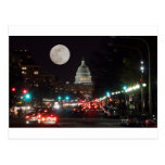 US Capitol Building at night with full moon Post Cards
