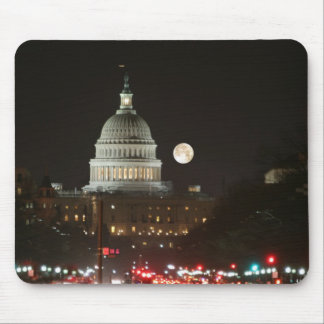 US Capitol Building Full Moon Mouse Mat