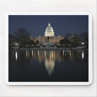US Capitol Building Night Mouse Mat