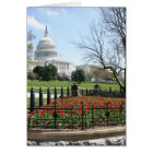 US Capitol building spring Card