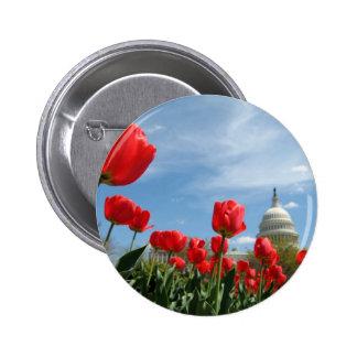 US Capitol Building Spring photo 6 Cm Round Badge