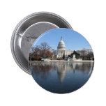 US Capitol building winter  picture 6 Cm Round Badge