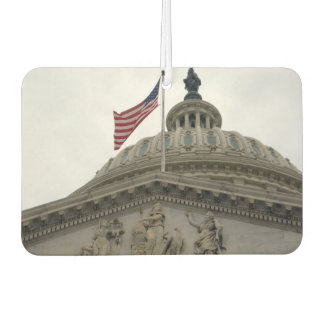 US Capitol Building with American Flag - East Car Air Freshener