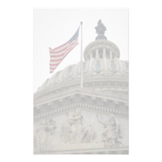 US Capitol Building with American Flag - East Customised Stationery