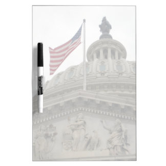 US Capitol Building with American Flag - East Dry Erase Board